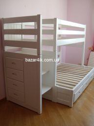 двухъярусная деревянная кровать Бюстукащ