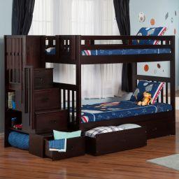 двухъярусная кровать с лестницей комодом Формоса
