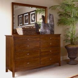 деревянная спальня Монтана с ящиками