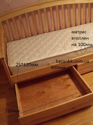 односпальная кровать с ящиками Арджем