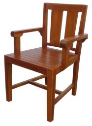 стул из дерева с подлокотниками Ксаген