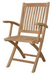 стул из дерева с подлокотниками Мелурон