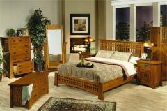 деревянная спальня ВисонДрафт