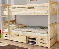 деревянная двухъярусная кровать с ящиками Ураган