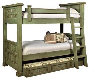 двухъярусная кровать деревянная Бизон