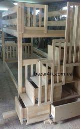 Кровать двухъярусная Артигас (на складе белая спальное место 900*2000мм лестница справа)