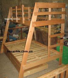 деревянная двухъярусная кровать Альба