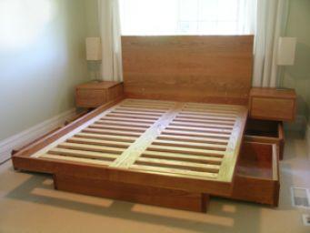 Кровать деревянная с ящиками Филимон