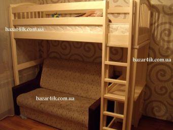 кровать чердак из дерева Орландо