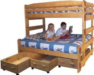 двухъярусная деревянная кровать Дезиум