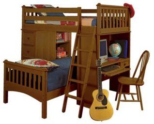 двухъярусная кровать Зенбунгат деревянная