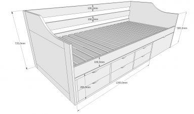 односпальная кровать Блекфеирс