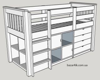 кровать чердак Паскваз