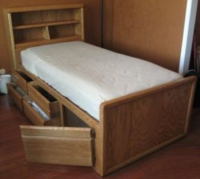 односпальная кровать Травник*дверка+полка