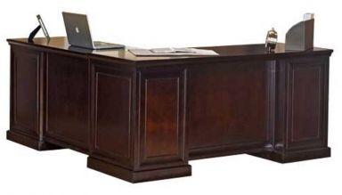 стол деревянный руководителя Бискай