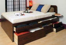 кровать деревянная Милена +глухое/волнообразное изголовье