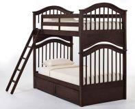 двухъярусная кровать Гамма с ящиками и панелью