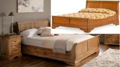 кровать деревянная Жанна *выбор основания