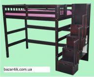 кровать чердак Лиман +варианты лестницы